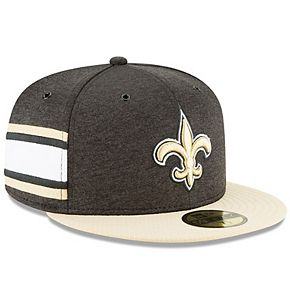 Men's New Era Black/Gold New Orleans Saints 2018 NFL Sideline Home Official 59FIFTY Fitted Hat