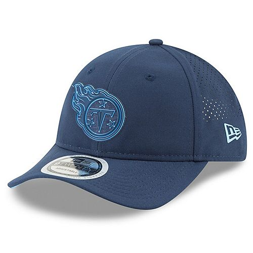 Men's New Era Navy Tennessee Titans 2018 Training Camp Primary 9TWENTY Adjustable Hat