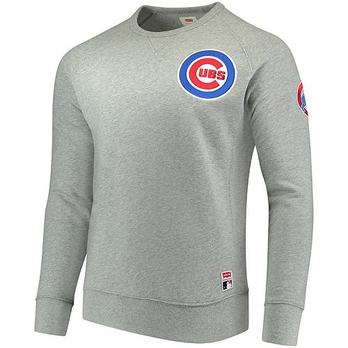 Men's Levi's Heathered Gray Chicago Cubs Pullover Sweatshirt