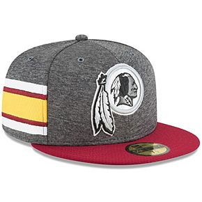 Men's New Era Heather Gray/Burgundy Washington Redskins 2018 NFL Sideline Home Graphite 59FIFTY Fitted Hat