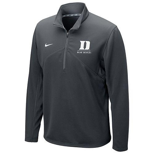 Men's Nike Anthracite Duke Blue Devils Logo and Mascot Name Training Quarter-Zip Performance Jacket