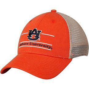 Men's The Game Orange Auburn Tigers Logo Bar Trucker Adjustable Hat