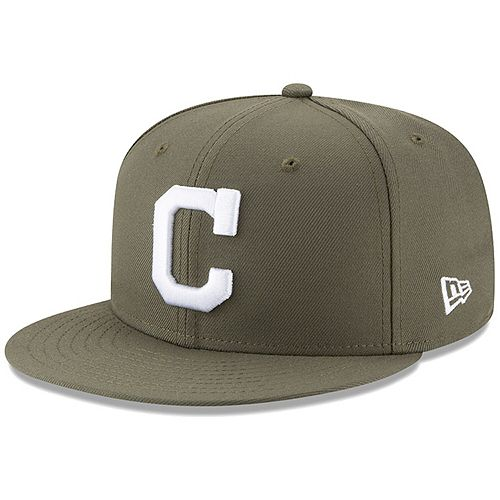 Cleveland Indians New Era Fashion Color Basic 59FIFTY Fitted Hat - Green