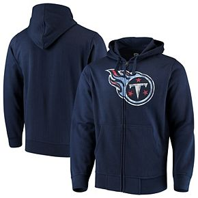 Men's G-III Sports by Carl Banks Navy Tennessee Titans Primary Logo Full-Zip Hoodie
