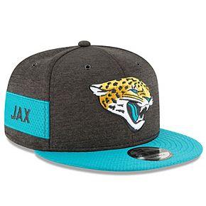 Men's New Era Black/Teal Jacksonville Jaguars 2018 NFL Sideline Home Official 9FIFTY Snapback Adjustable Hat
