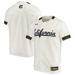 Men's Under Armour White Cal Bears Performance Replica Baseball Jersey