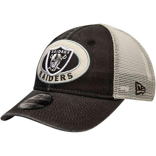 Toddler New Era Black Oakland Raiders Patched Pride 9TWENTY Snapback Adjustable Hat