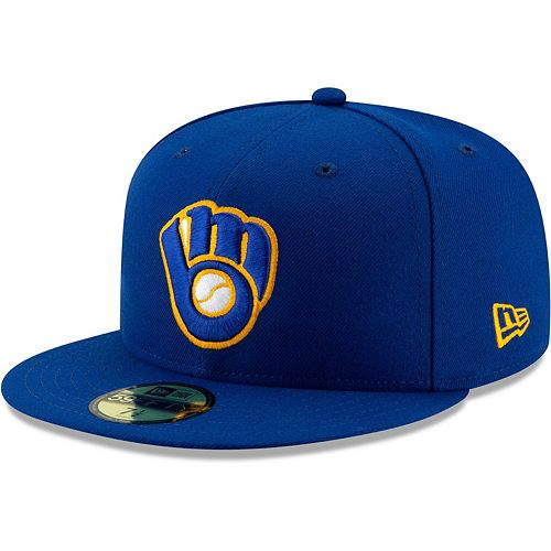 Men's New Era Royal Milwaukee Brewers Alternate Authentic Collection On-Field 59FIFTY Fitted Hat