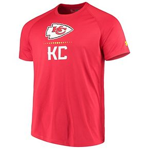 Men's Under Armour Red Kansas City Chiefs Authentic Combine Lockup Tech T-Shirt