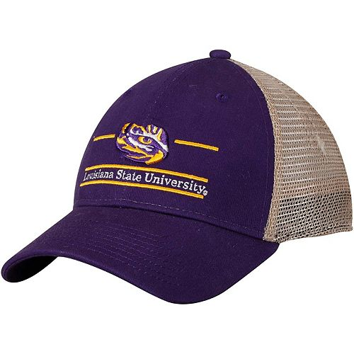 Men's The Game Purple LSU Tigers Logo Bar Trucker Adjustable Hat