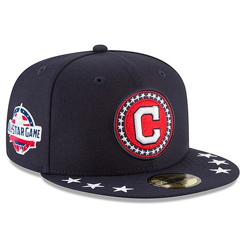 Men's New Era Navy Cleveland Indians 2018 MLB All-Star Workout On-Field 59FIFTY Fitted Hat