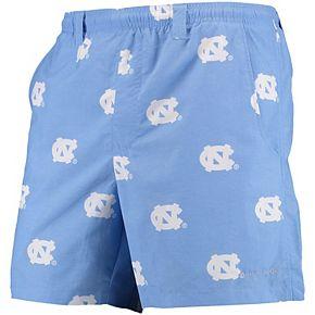 "Men's Columbia PFG Carolina Blue North Carolina Tar Heels Backcast II 6"" Omni-Shade Hybrid Shorts"