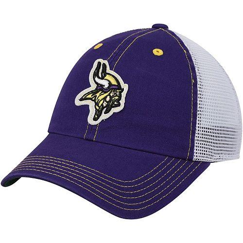 Youth Purple Minnesota Vikings Logo Applique Trucker Adjustable Snapback Hat