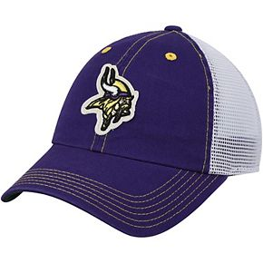 Youth Purple Minnesota Vikings Logo Applique Trucker Adjustable Snapback Hat