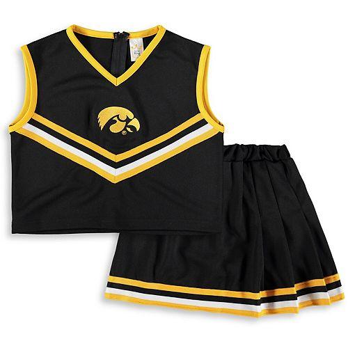 Girls Youth Black Iowa Hawkeyes Two-Piece Cheer Set