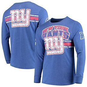 Men's G-III Extreme Royal New York Giants Extreme Jump Shot Long Sleeve T-Shirt