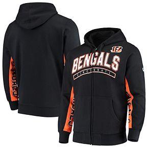 Men's Hands High Black/Orange Cincinnati Bengals Blowout Full-Zip Hoodie