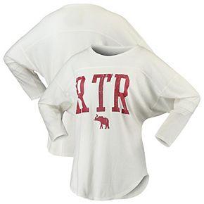 Women's White Alabama Crimson Tide Codes Vintage 3/4-Sleeve Striped Jersey T-Shirt