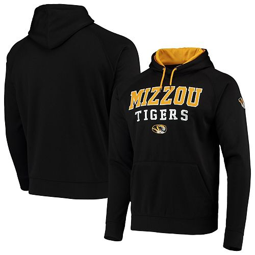 Men's Colosseum Black Missouri Tigers Team Performance Pullover Hoodie