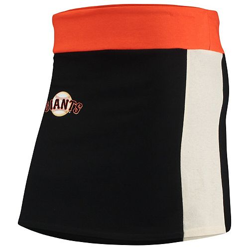 Women's Refried Tees Black San Francisco Giants Mini Tee-Skirt