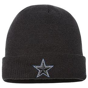 Men's New Era Black Dallas Cowboys Pop Waffler Cuffed Knit Beanie