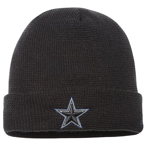 Men's New Era Black Dallas Cowboys Pop Waffler Cuffed Knit Beanie