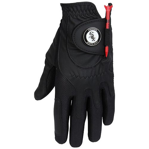 Men's Black Chicago White Sox Left Hand Golf Glove & Ball Marker Set