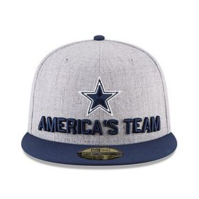 Youth New Era Heather Gray/Navy Dallas Cowboys 2018 NFL Draft Official On-Stage 59FIFTY Fitted Hat