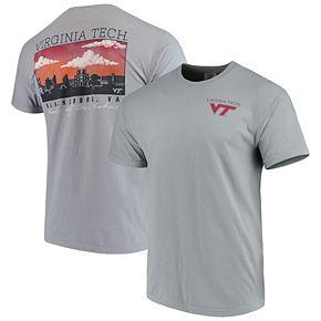 Men's Gray Virginia Tech Hokies Team Comfort Colors Campus Scenery T-Shirt