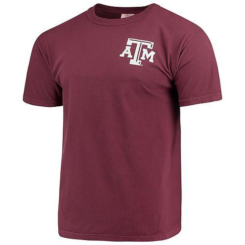 Men's Maroon Texas A&M Aggies Baseball Flag Comfort Colors T-Shirt