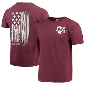 Men's Maroon Texas A&M Aggies Baseball Flag Comfort Colors T-Shirt