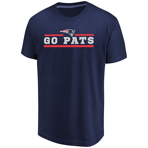 Men's Majestic Navy New England Patriots Big & Tall Safety Blitz T-Shirt