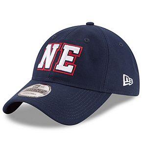 Men's New Era Navy New England Patriots Home Turf 9TWENTY Adjustable Hat
