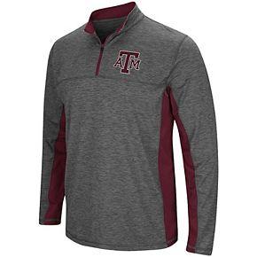 Men's Colosseum Heathered Charcoal Texas A&M Aggies Milton Windshirt Quarter-Zip Pullover Jacket