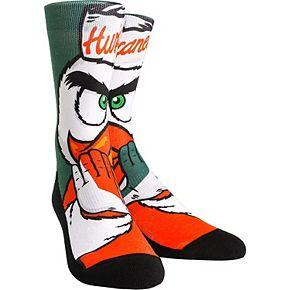 Youth Miami Hurricanes Mascot & Logo Crew Socks