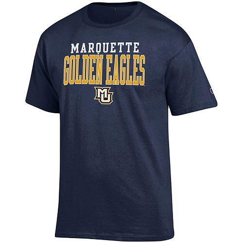 Men's Champion Navy Marquette Golden Eagles Core Mascot T-Shirt
