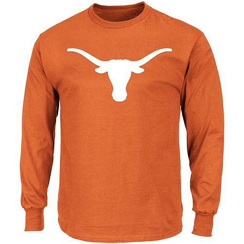 Men's Majestic Texas Orange Texas Longhorns Longhorn Big & Tall Long Sleeve T-Shirt