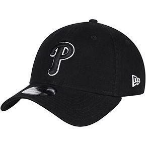 Men's New Era Black Philadelphia Phillies Core Classic Twill 9TWENTY Adjustable Hat