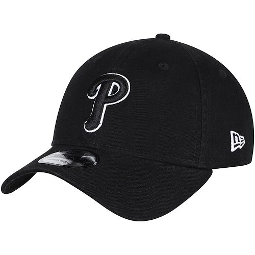Men's New Era Black Philadelphia Phillies Core Classic Twill 9TWENTY Adjustable Hat