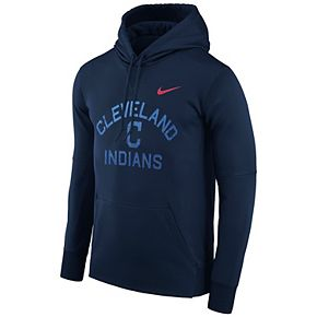 Men's Nike Navy Cleveland Indians Therma Pullover Hoodie