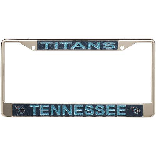 Tennessee Titans Acrylic Glitter Team Logo License Plate Frame