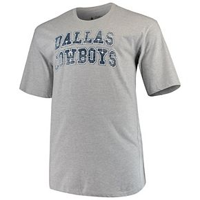 Men's Heathered Gray Dallas Cowboys Big & Tall Faded Arch T-Shirt