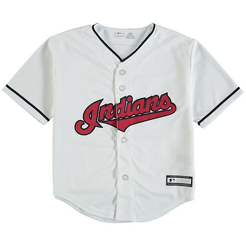 Preschool White Cleveland Indians Replica Team Jersey