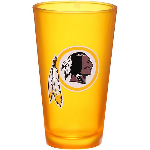 Washington Redskins 16 oz. Team Color Frosted Pint Glass