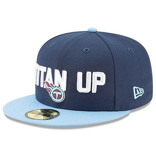 Men's New Era Navy/Light Blue Tennessee Titans 2018 NFL Draft Spotlight 59FIFTY Fitted Hat