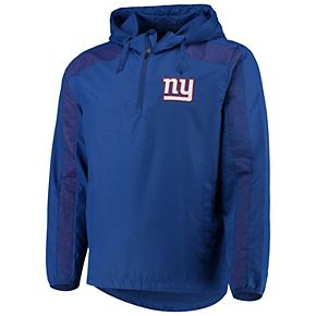 Men's G-III Sports by Carl Banks Royal New York Giants Lineup Hooded Half-Zip Jacket