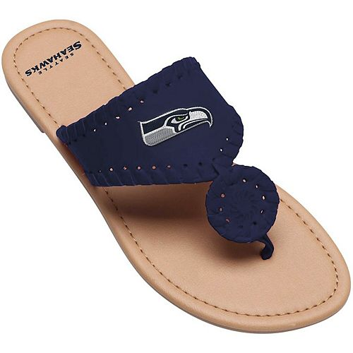 Women's Seattle Seahawks High End Monotone Whipstitch Sandals
