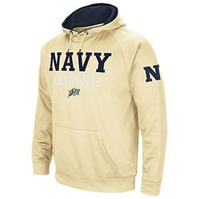 Men's Colosseum Gold Navy Midshipmen Performance Pullover Hoodie
