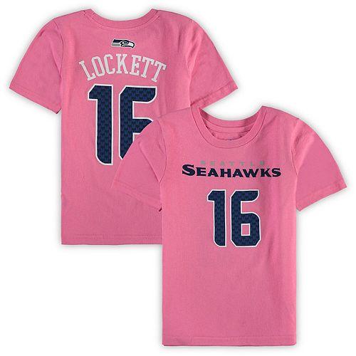 Girls Preschool Tyler Lockett Pink Seattle Seahawks Player Mainliner Name & Number T-Shirt