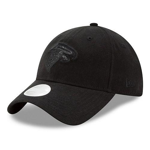 Women's New Era Black Atlanta Falcons Team Glisten Tonal 9TWENTY Adjustable Hat